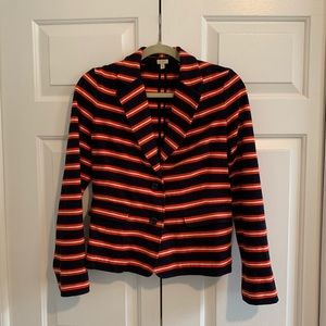 J. Crew Navy & Orange Blazer
